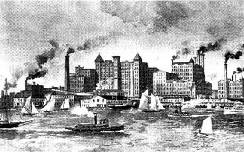 Havemeyers & Elder's Sugar Refinery in the 1880s