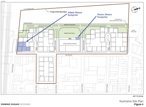 Domino Rezoning Site Plan (click to enlarge)